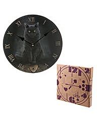 Decorative Wall Clock - Magical Cat