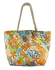 Thomas Calvi Floral Beach Bag