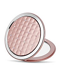 Jon Richard pink quilted round compact