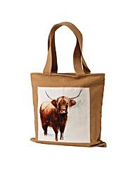 Sarah Stokes Highland Cow Canvas Bag