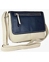Blousey Brown Genuine Leather Handbag