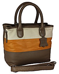 Blousey Brown Genuine Leather Handbag