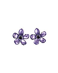 Enamel Flower Earring