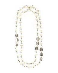 Long Pearl Effect Necklace