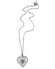 3D Wire Heart Necklace