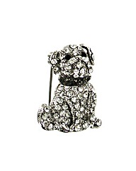 Diamant� Dog Brooch