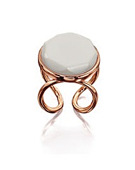 Rose Gold Plate Stone Ring