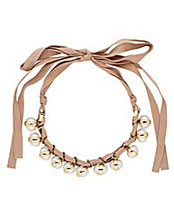 Jon Richard Luxe pearl ribbon necklace