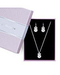 Jon Richard capped pearl jewellery set