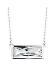 Jon Richard Crystal baguette necklace