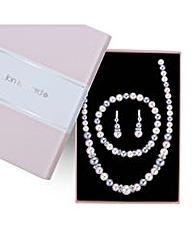 Jon Richard pearl matching jewellery set