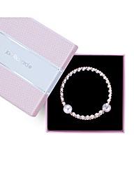 Jon Richard Pearl diamante coil bracelet