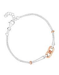 Simply Silver Central link bracelet