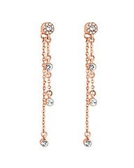 Jon Richard Rose gold crystal earring