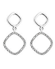 Jon Richard crystal geometric earring