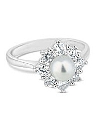 Jon Richard Flower pearl ring