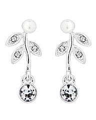Jon Richard Pearl crystal flower earring