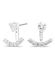 Jon Richard front and back swing earring