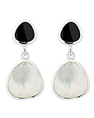 Simply Silver Onyx drop earring