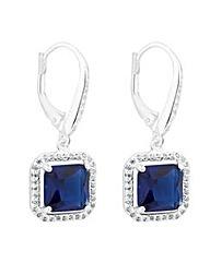 Simply Silver Blue halo drop earring