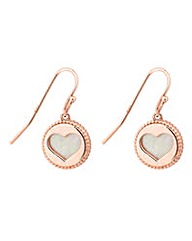 Simply Silver Heart cut out earring