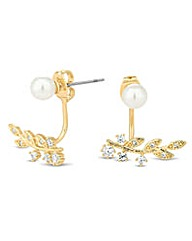 Jon Richard Gold leaf pearl earring