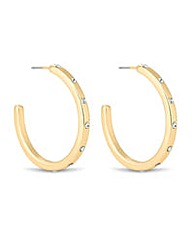 Jon Richard gold crystal hoop earring