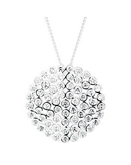 Simply Silver Cluster disc pendant