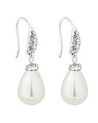 Jon Richard pearl drop crystal earring