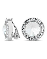 Jon Richard crystal dome clip on earring