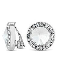 Jon Richard crystal dome clip on earring