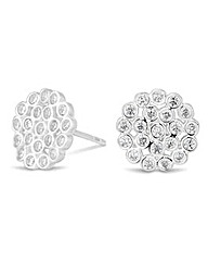 Simply Silver Cluster disc earring