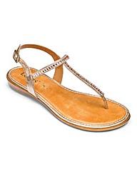 Lotus Toe Post Sandals D Fit