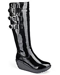 Heavenly Soles Patent Boots D Fit
