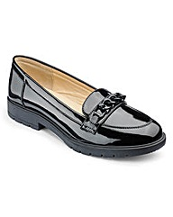 Patent Chain Loafers D Fit