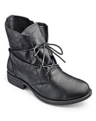 Heavenly Soles Lace Up Boots E Fit