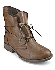 Heavenly Soles Lace Up Ankle Boots E Fit