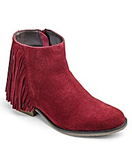 Heavenly Soles Suede Ankle Boots EEE Fit