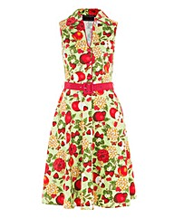 VOODOO VIXEN FRUIT PRINT DRESS