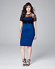 AX Paris Curve Lace Overlay Dress