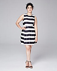 AX Paris Curve Monochrome Scuba Dress