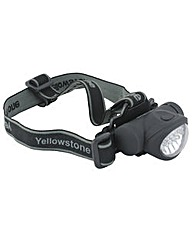 Yellowstone 8+2 LED Head Torch