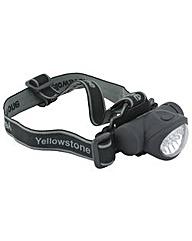 Yellowstone 8+2 LED Head Torch