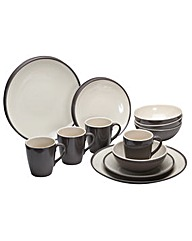 Two Tone Burslem 16 Piece Tableware Set