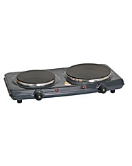 Quest Double Hot Plate in black