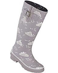 Brakeburn Birds & Clouds Welly Grey