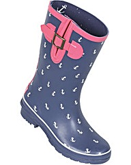Brakeburn Short Anchor Welly Navy