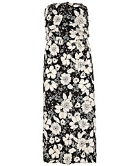 Samya Printed Maxi Bandeau Dress