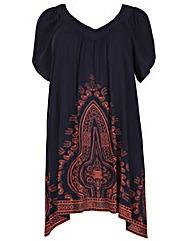 Samya Eastern Print Dress