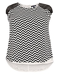 Samya Chevron Print Top